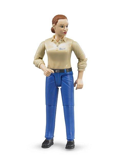 b-world, Frau heller Hauttyp & blauer Hose
